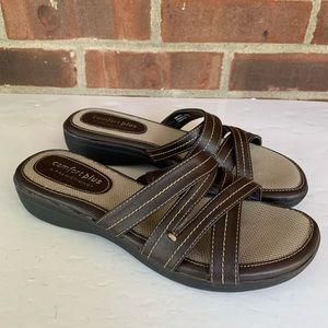 Comfort plus by Predictions slide low heel sandals